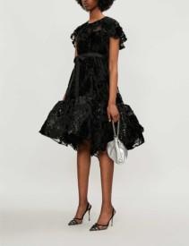 HUISHAN ZHANG Jodie Devoré Mini Dress