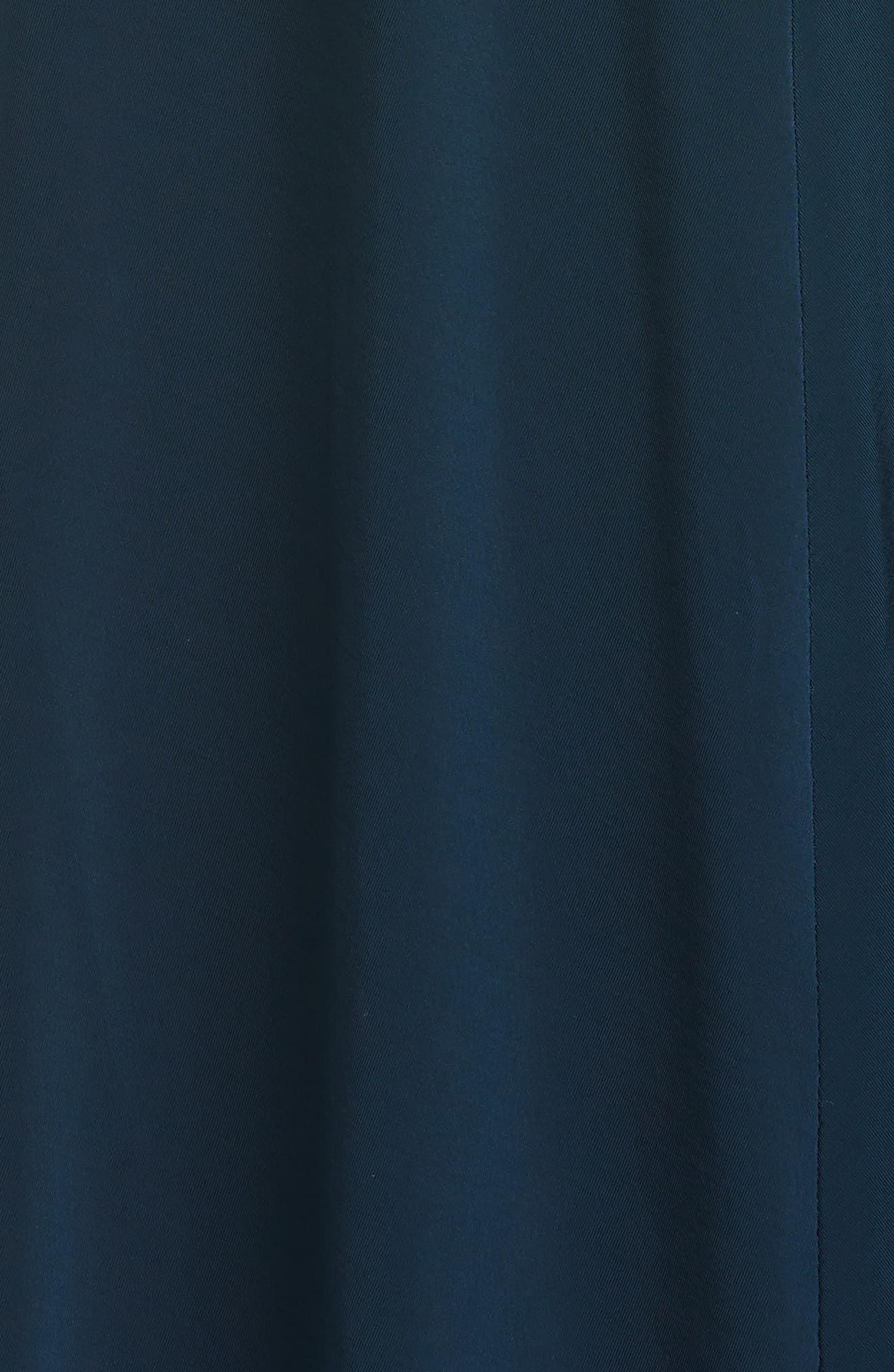JASON WU COLLECTION Cap Sleeve Draped Jersey Midi Dress