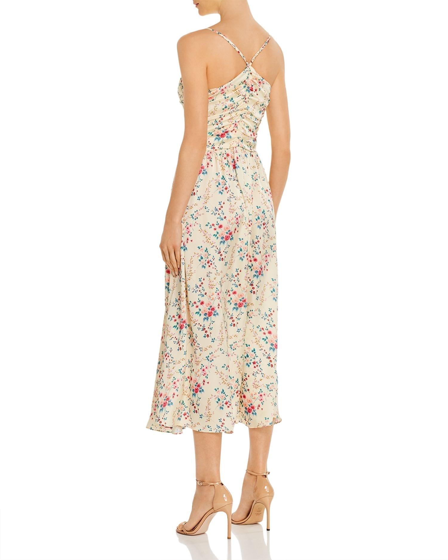 JILL JILL STUART Ruched Floral Midi Dress