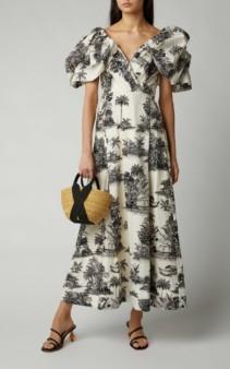 JOHANNA ORTIZ Anhelos De Tierra Printed Cotton Gown