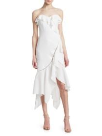 JONATHAN SIMKHAI Crepe Asymmetric Mermaid Dress