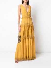 JONATHAN SIMKHAI Georgette Maxi Dress