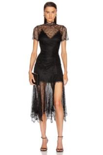 JONATHAN SIMKHAI Sateen Lingerie Lace Dress