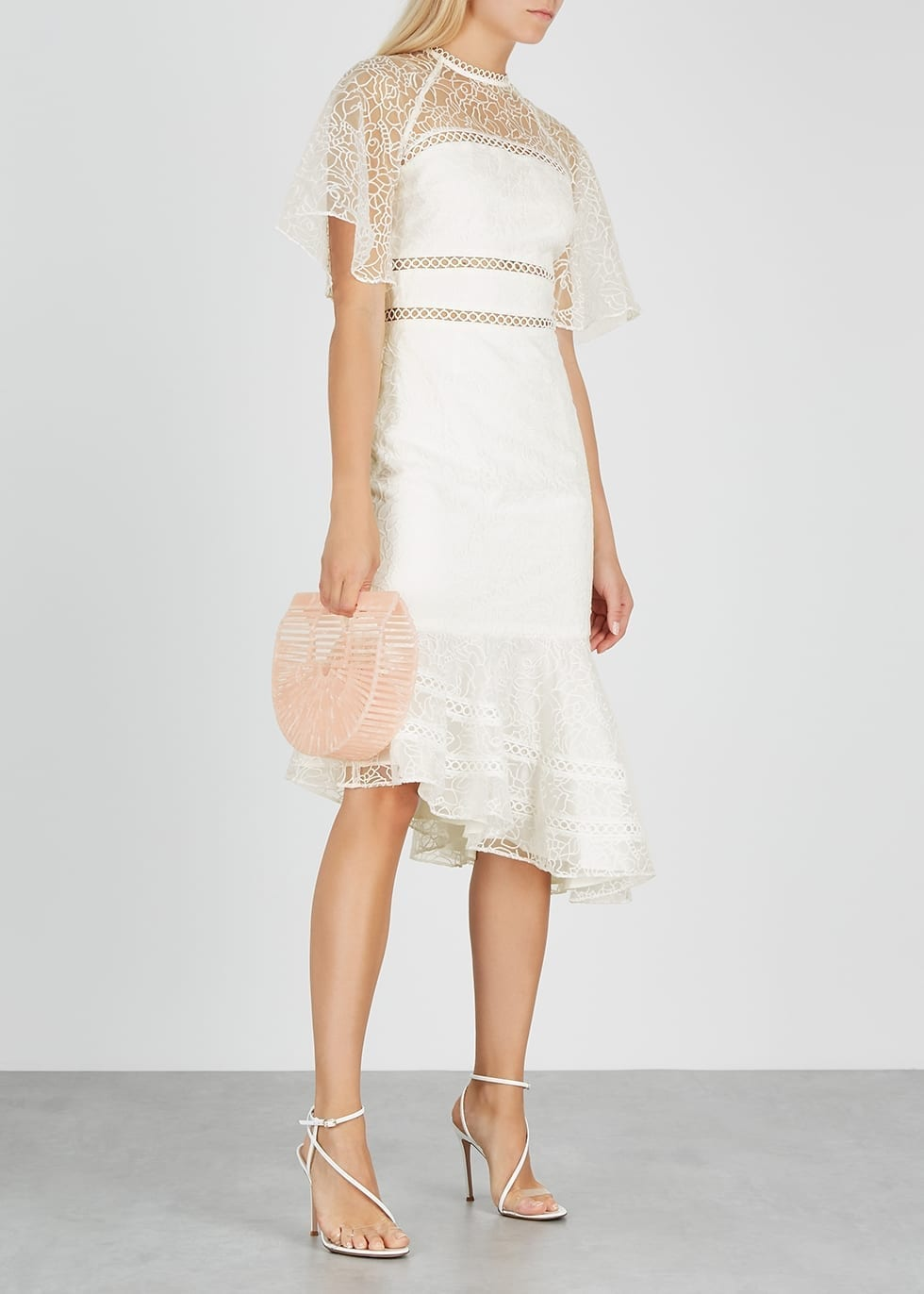 KEEPSAKE Awaken Ivory Embroidered Organza Dress