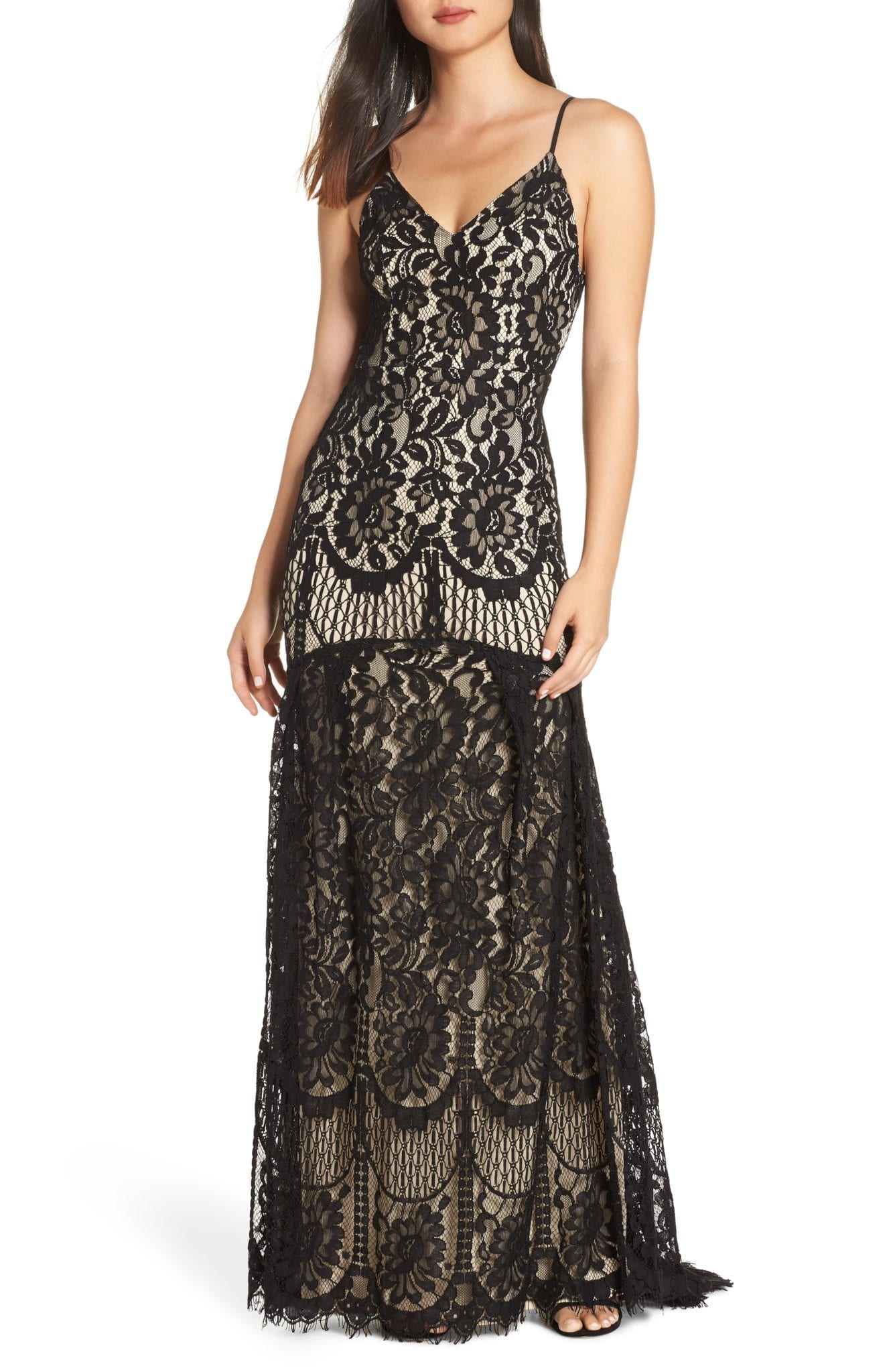 LULUS Flynn Lace Train Gown
