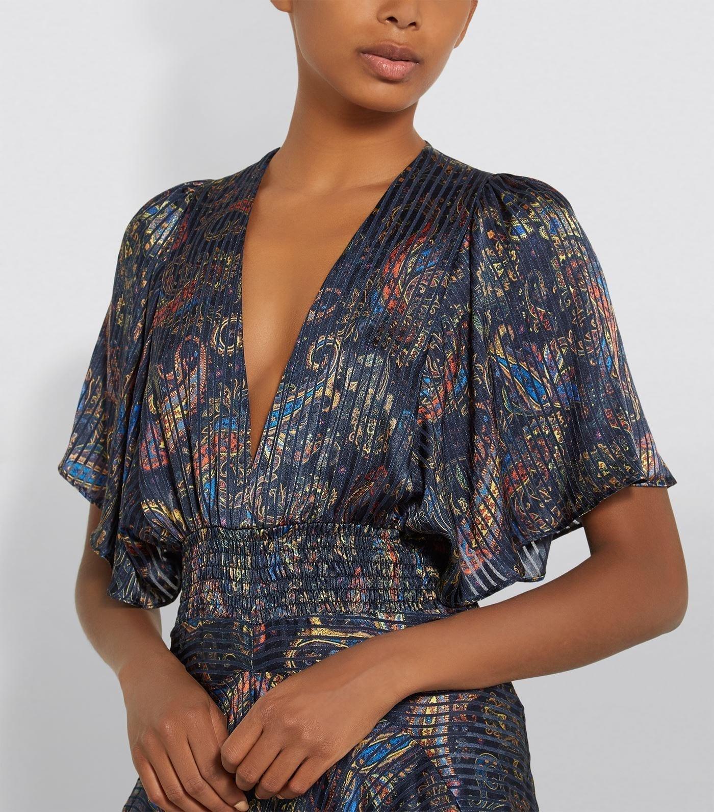 MAJE Paisley Handkerchief Dress