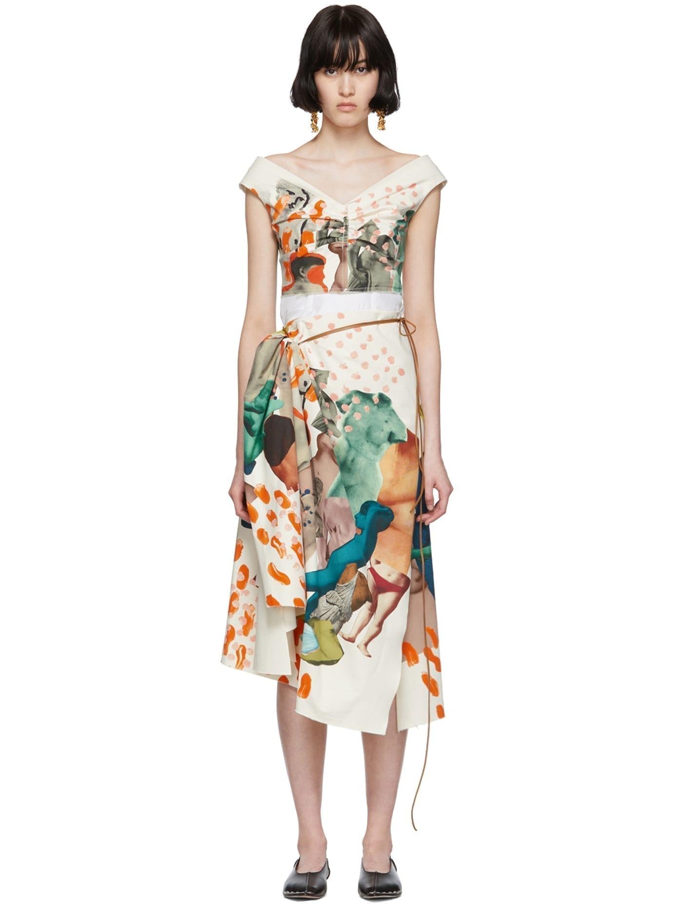 MARNI Off-White Venere Print Dress