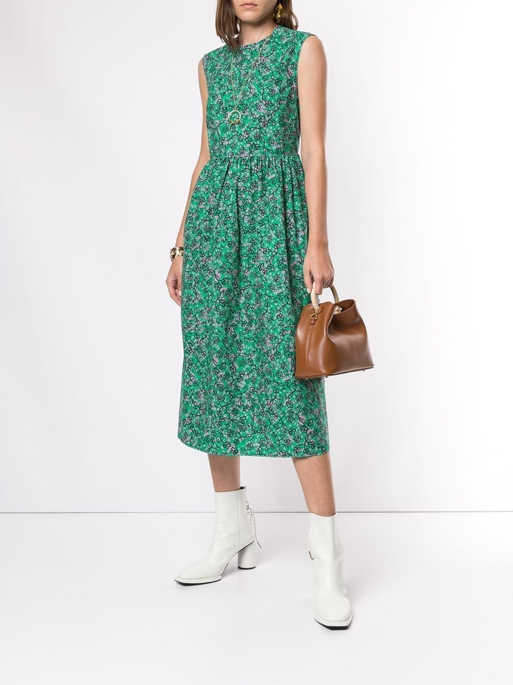 MARNI Sleeveless Floral Print Dress