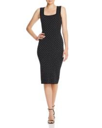 MILLY Micro Dot Jacquard Dress