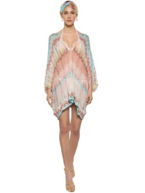 f99554742 MISSONI Zigzag Print V Neck Knit Caftan Dress