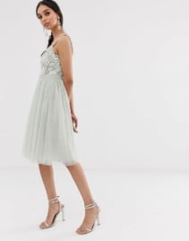 NEEDLE & THREAD Sequin Midi Dress