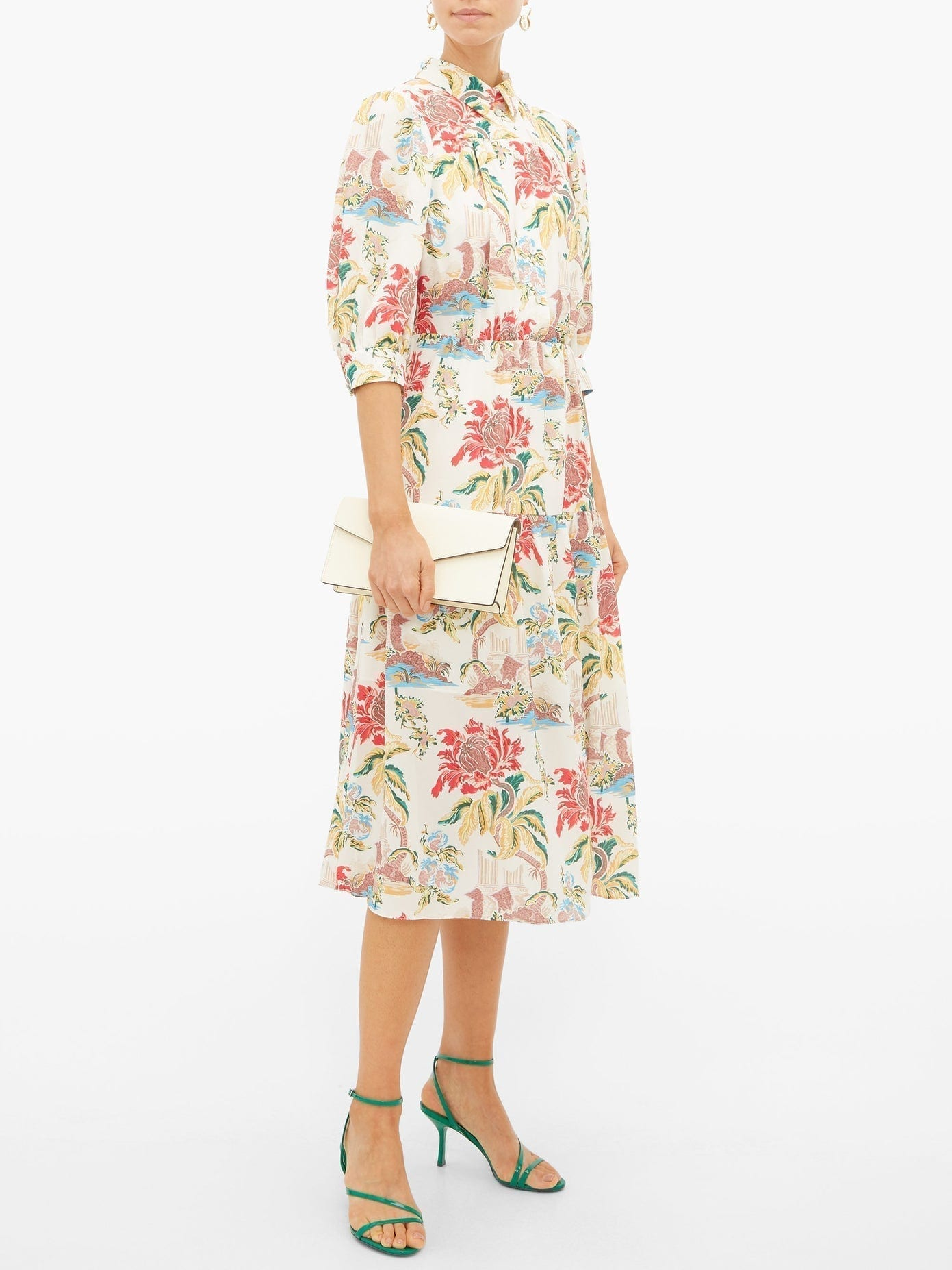 PETER PILOTTO Floral-print Poplin Shirt Dress