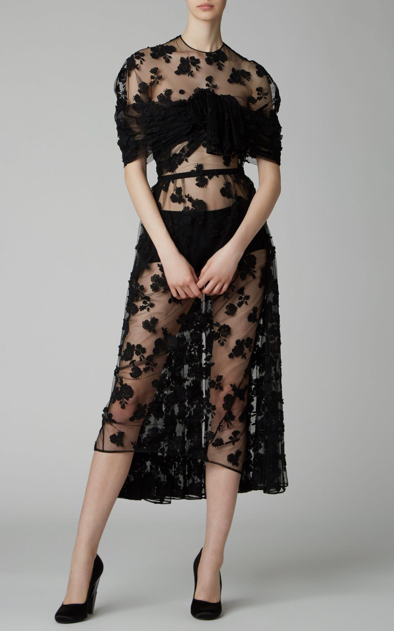 PRADA Cotton-Blend Lace Midi Dress
