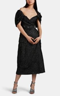 PRADA Tweed Off-The-Shoulder Dress