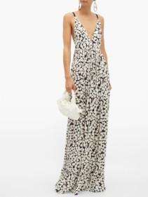 PROENZA SCHOULER Splatter-print Crepe Maxi Dress