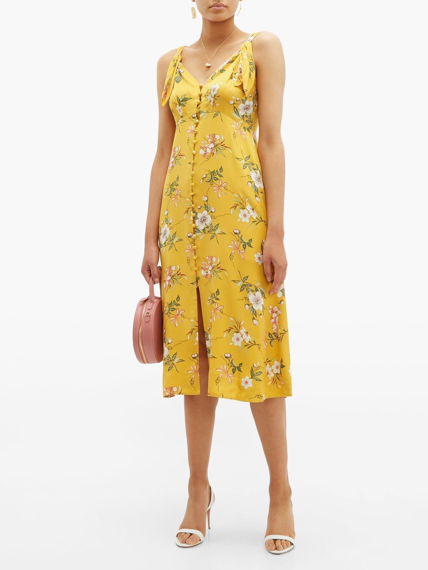 REBECCA TAYLOR Lita Floral-print Silk-blend Dress