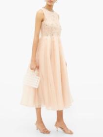 REDVALENTINO Crystal-embellished Silk-organza Dress