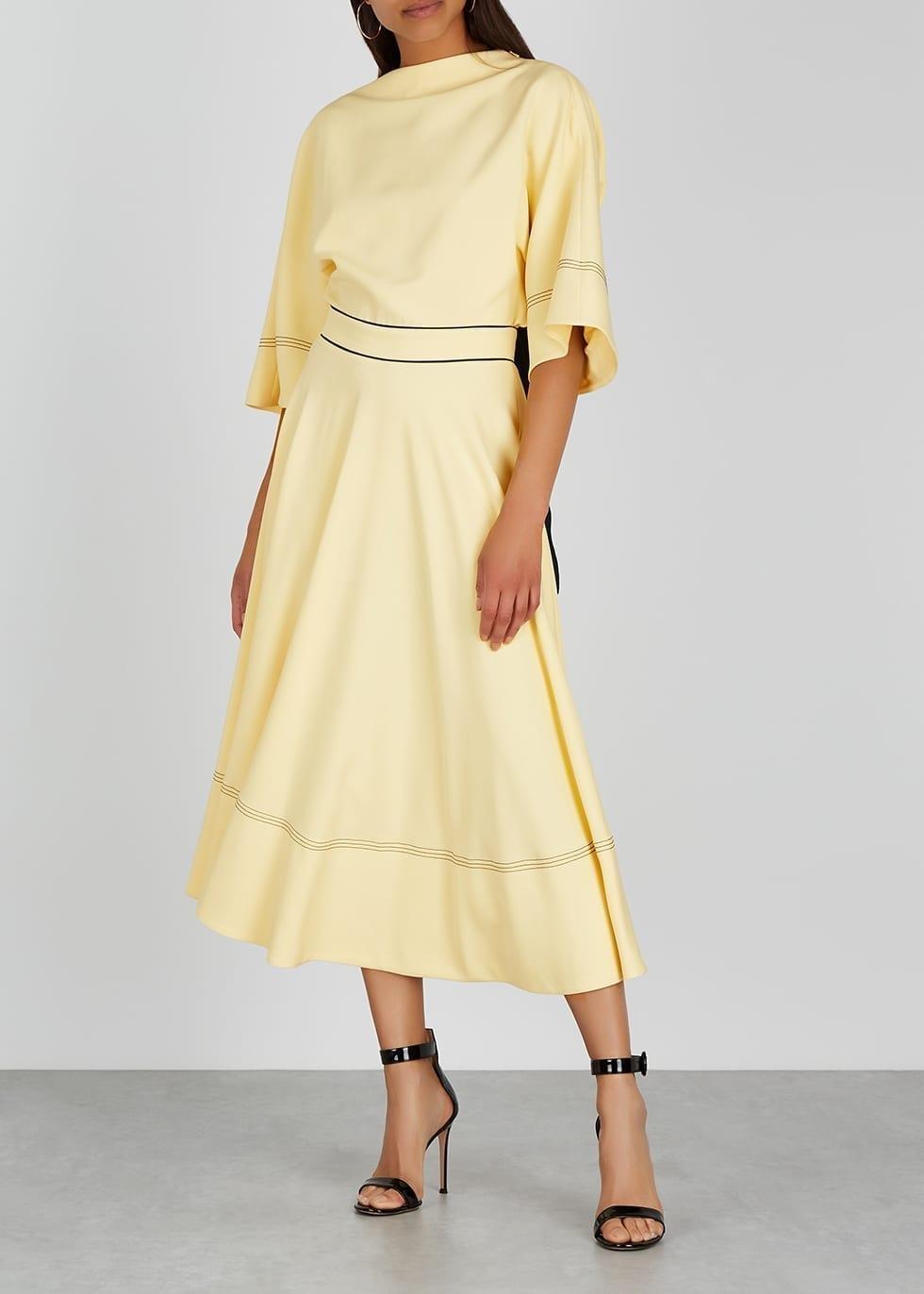 ROKSANDA Dara Yellow Crepe Dress