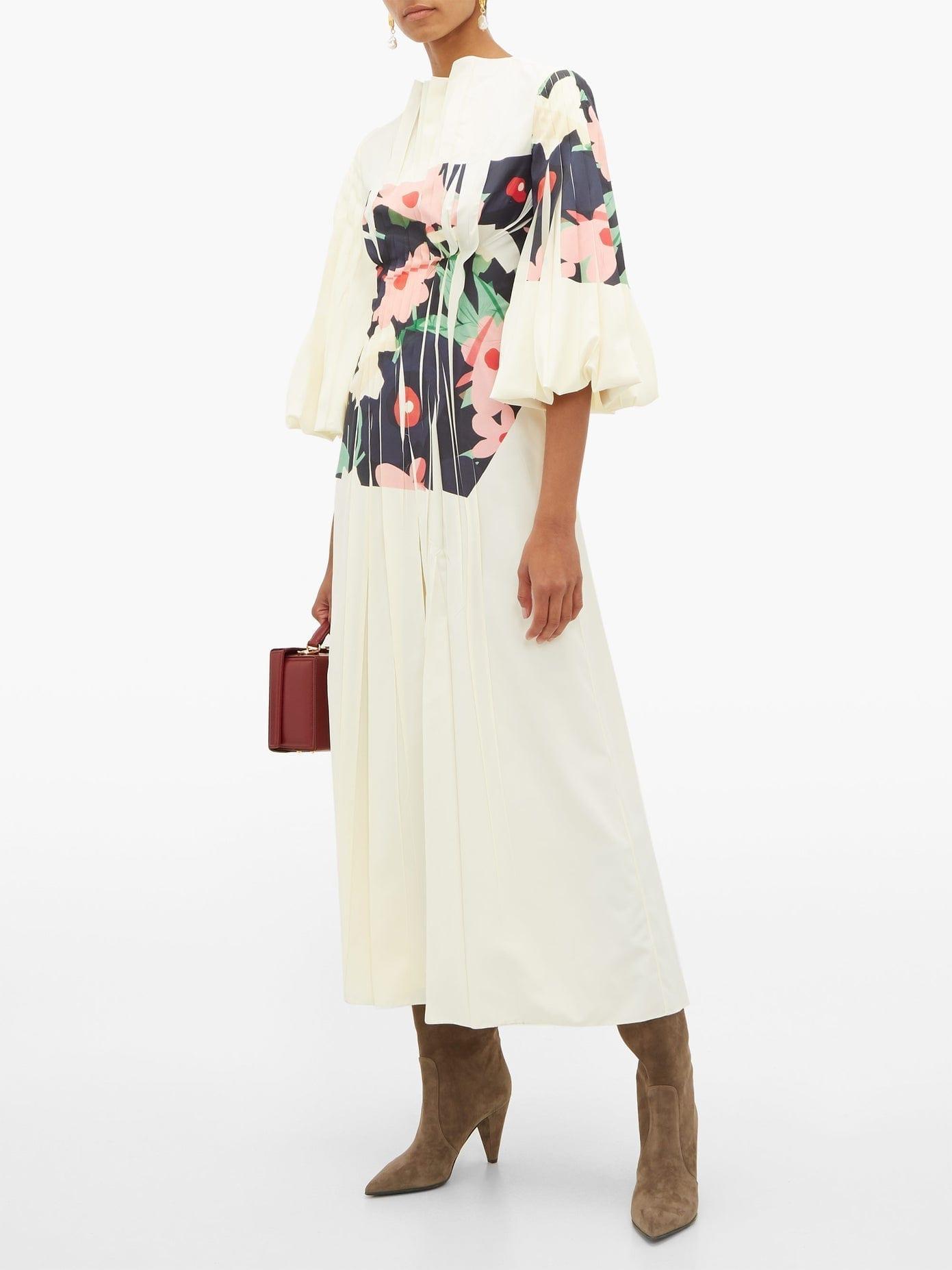 ROKSANDA Neesha Floral-print Cotton-blend Midi Dress
