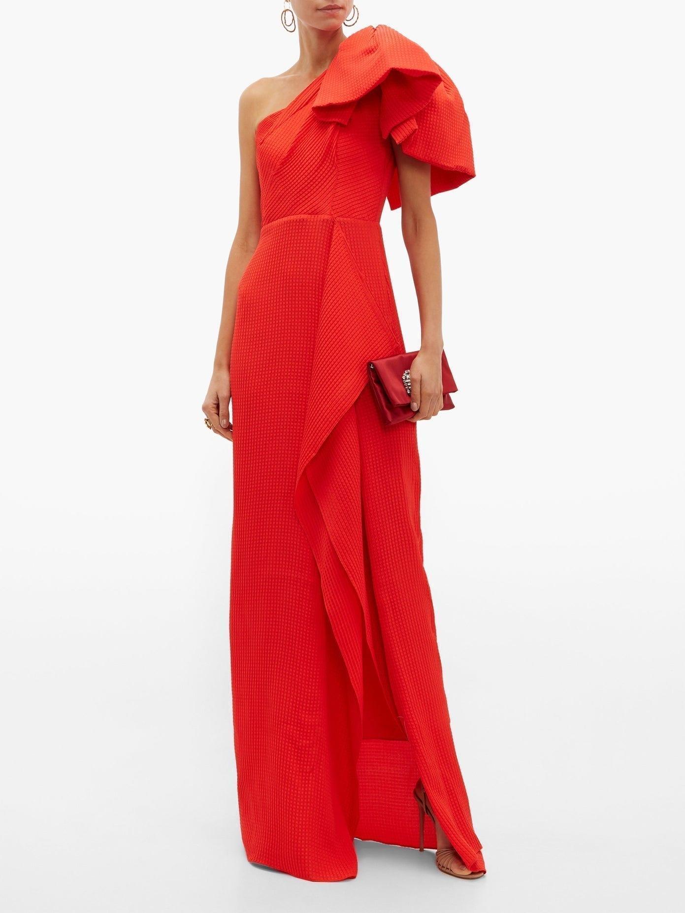 ROLAND MOURET Belhaven Silk-Seersucker Gown
