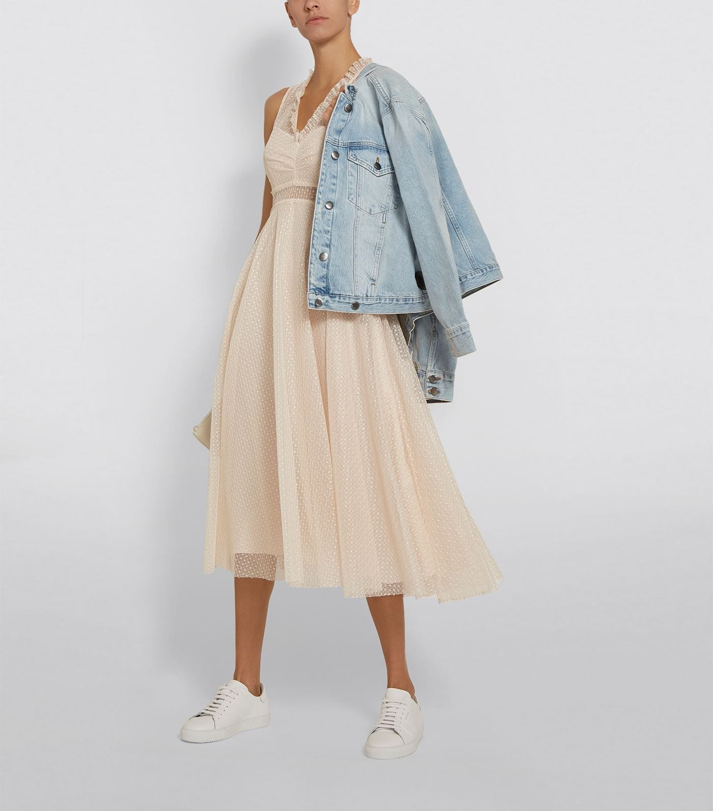 SANDRO Embroidered Tulle Dress