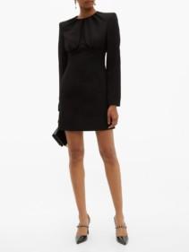 SARA BATTAGLIA Gathered-Bodice Crepe Mini Dress