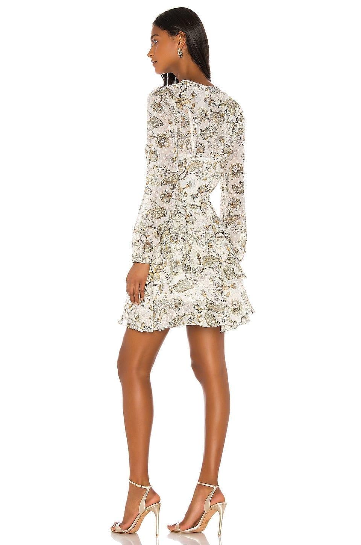 SHONA JOY Quinn Ruffle Shift Mini Dress