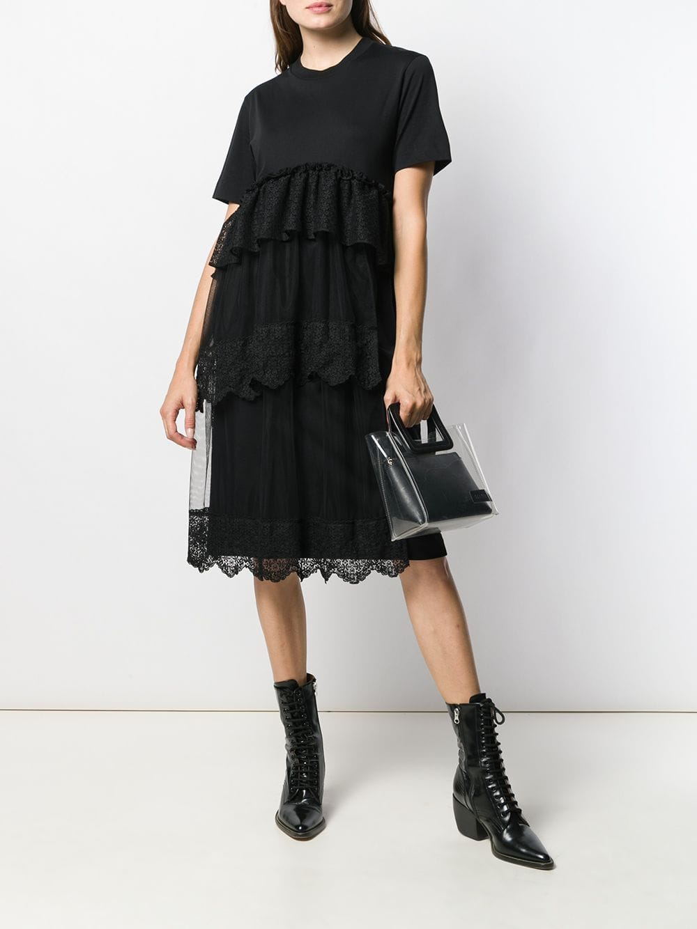 SIMONE ROCHA Frill-Trim Midi Dress