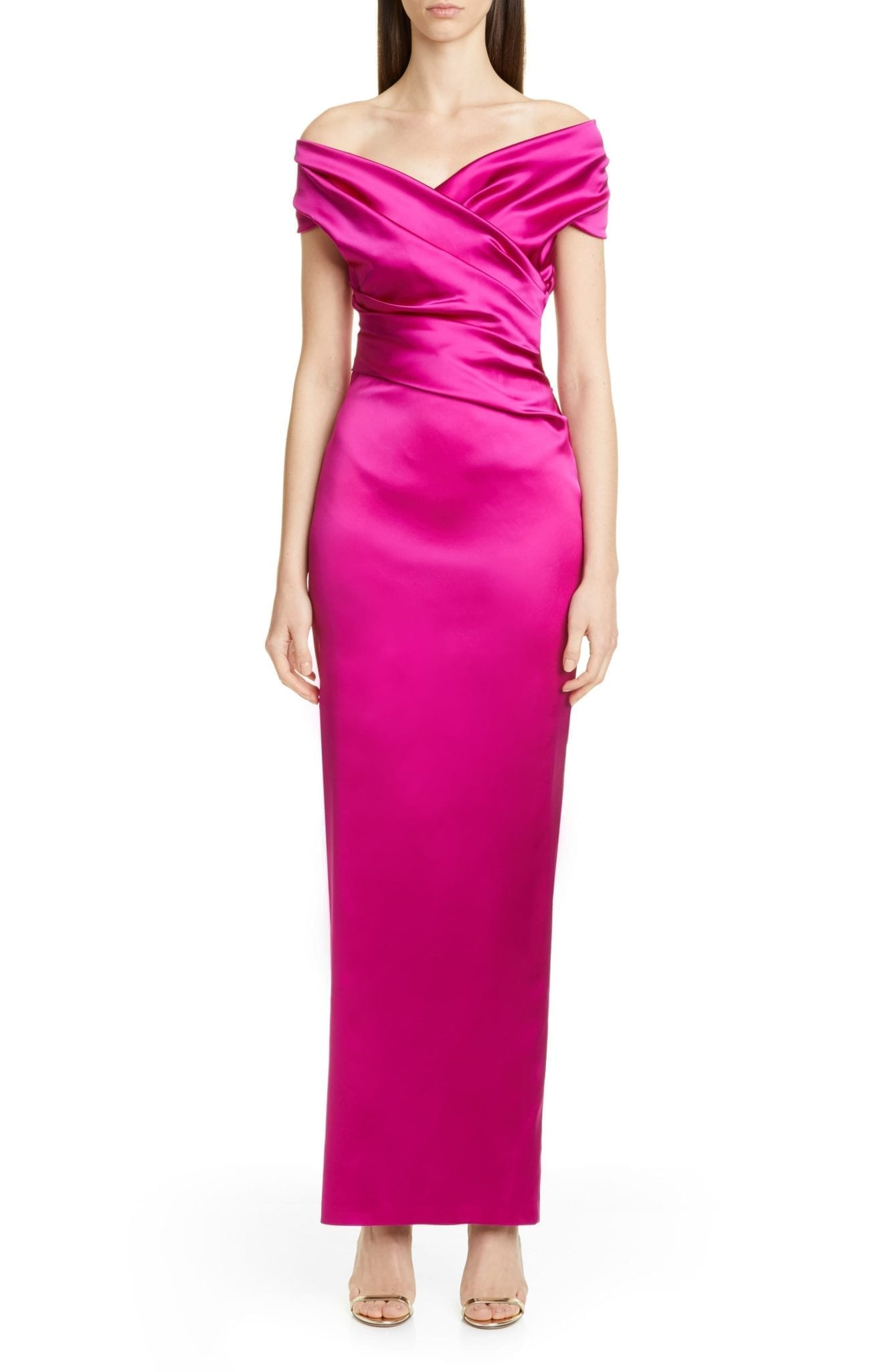TALBOT RUNHOF f Stretch Duchesse Satin Gown