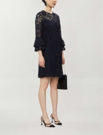 VALENTINO Flared-cuffs Lace Mini Dress