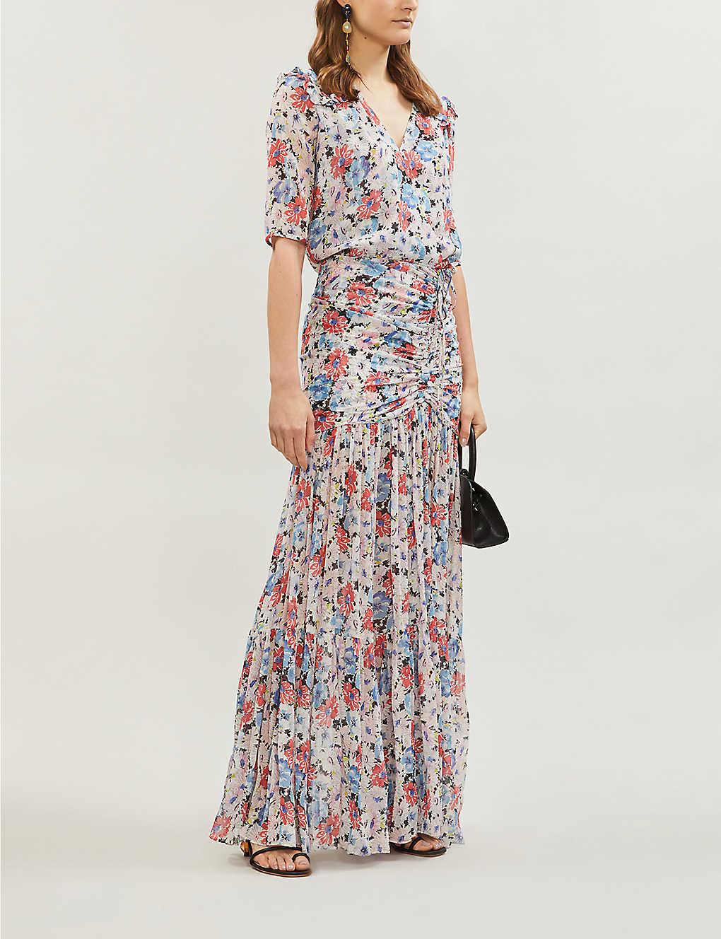VERONICA BEARD Mick Floral-print Crepe Maxi Dress