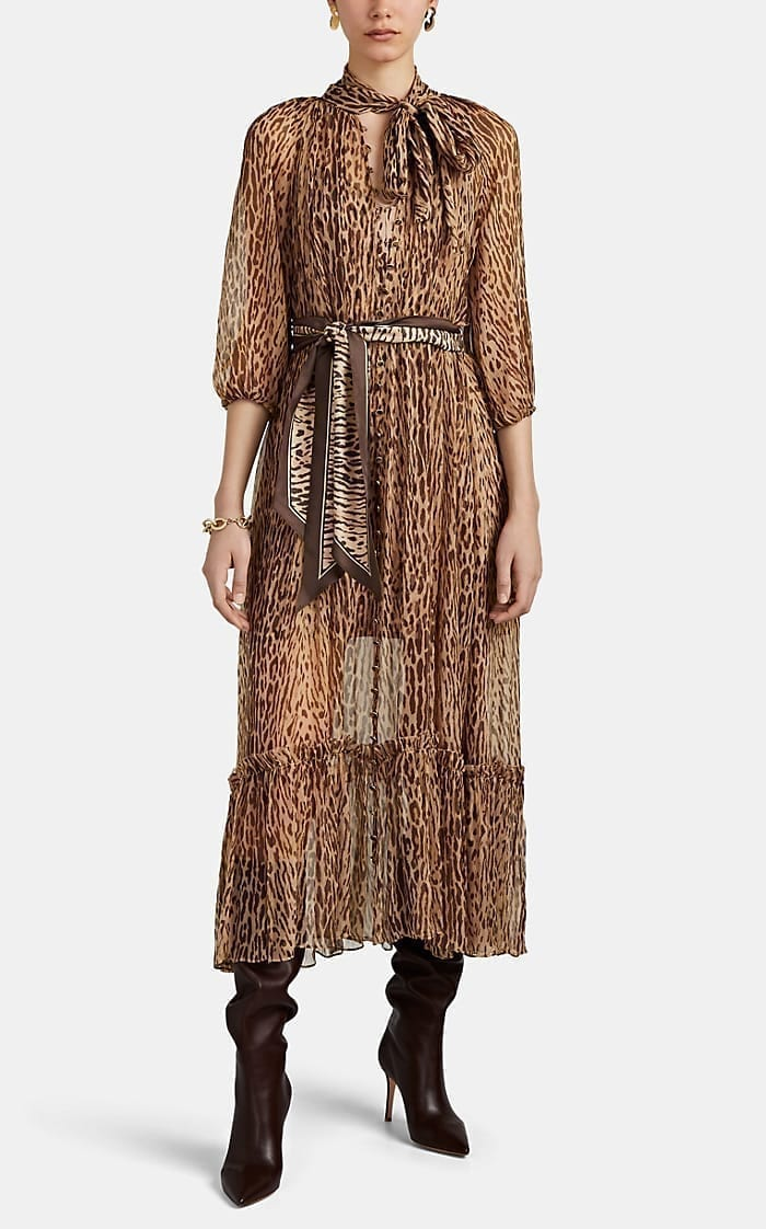 ZIMMERMANN Espionage Leopard-Print Silk Maxi Dress