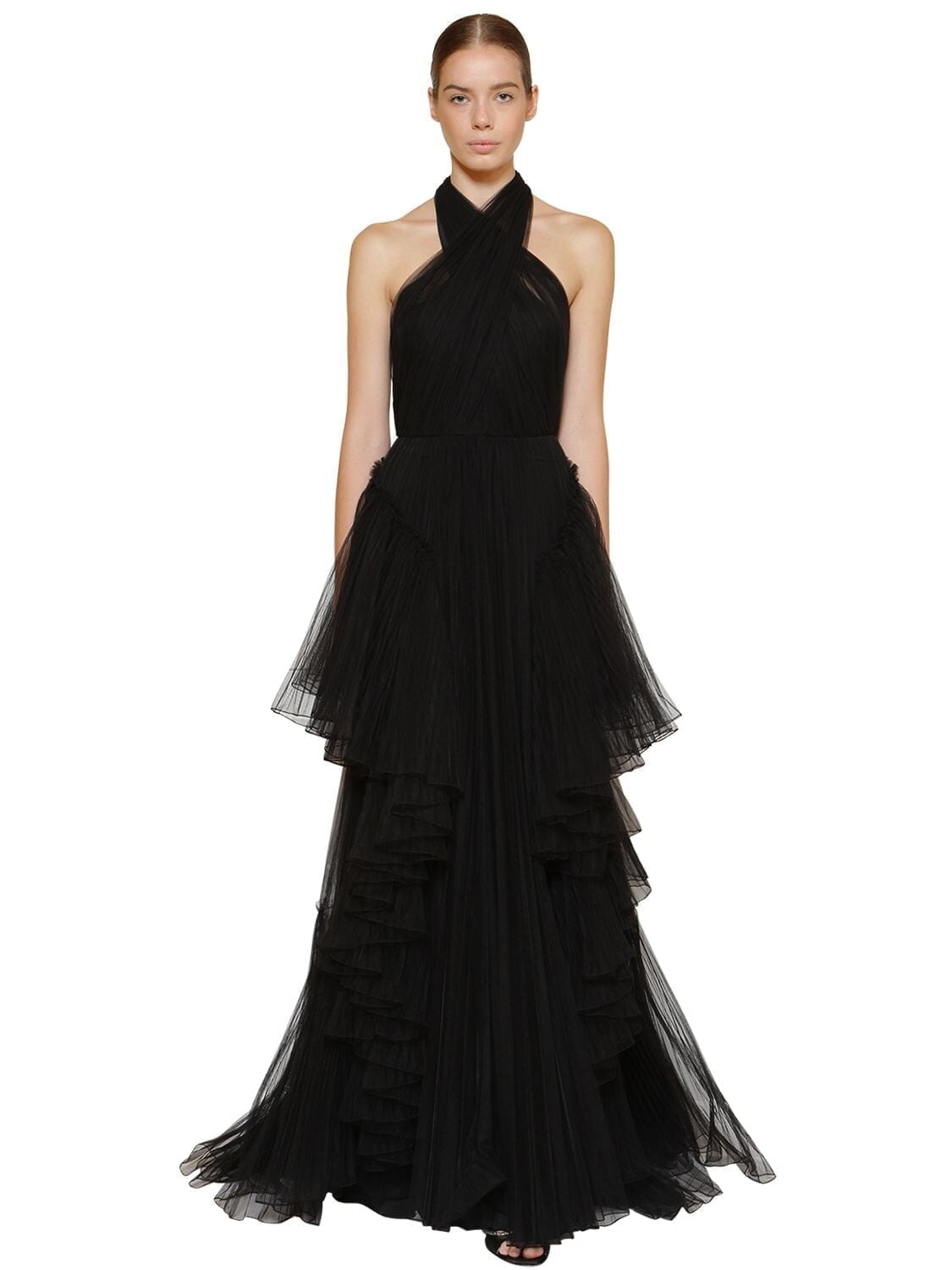 ALBERTA FERRETTI Long Layered Tulle Dress