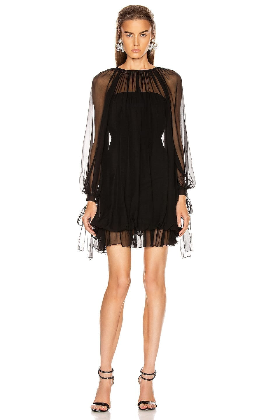 ALBERTA FERRETTI Ruffle Mini Dress