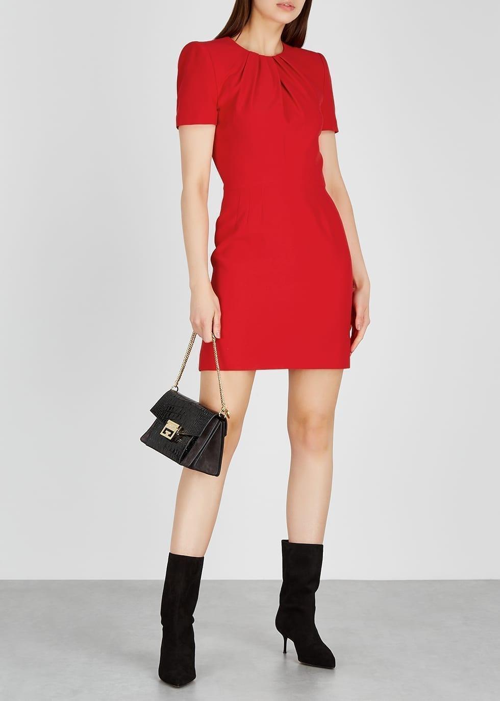 ALEXANDER MCQUEEN Red Crepe Dress