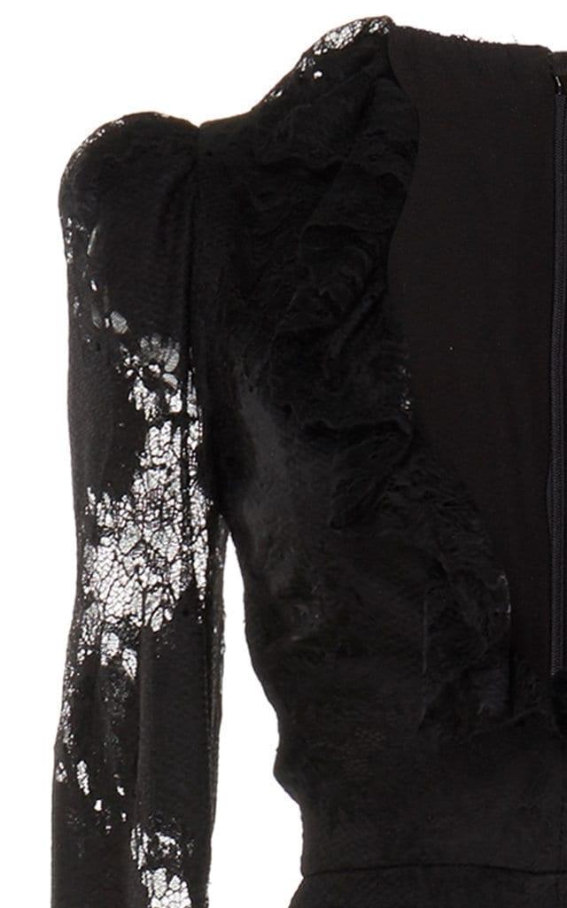 ALEXIS Lucasta Lace-Detailed Deep-V Maxi Dress