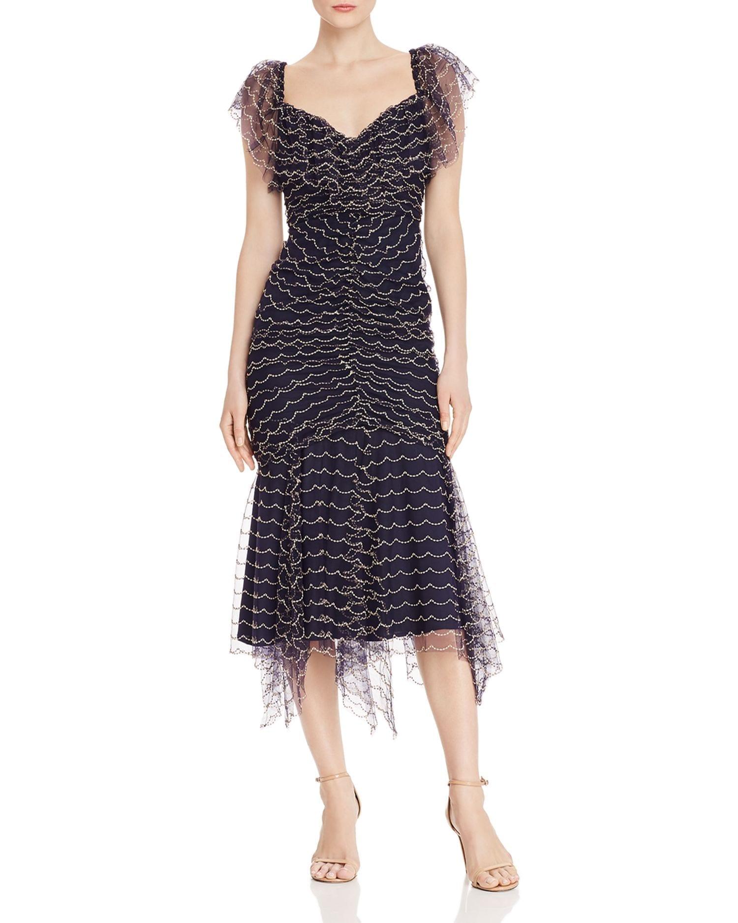 ALICE MCCALL Venus Scalloped-Embroidery Midi Dress