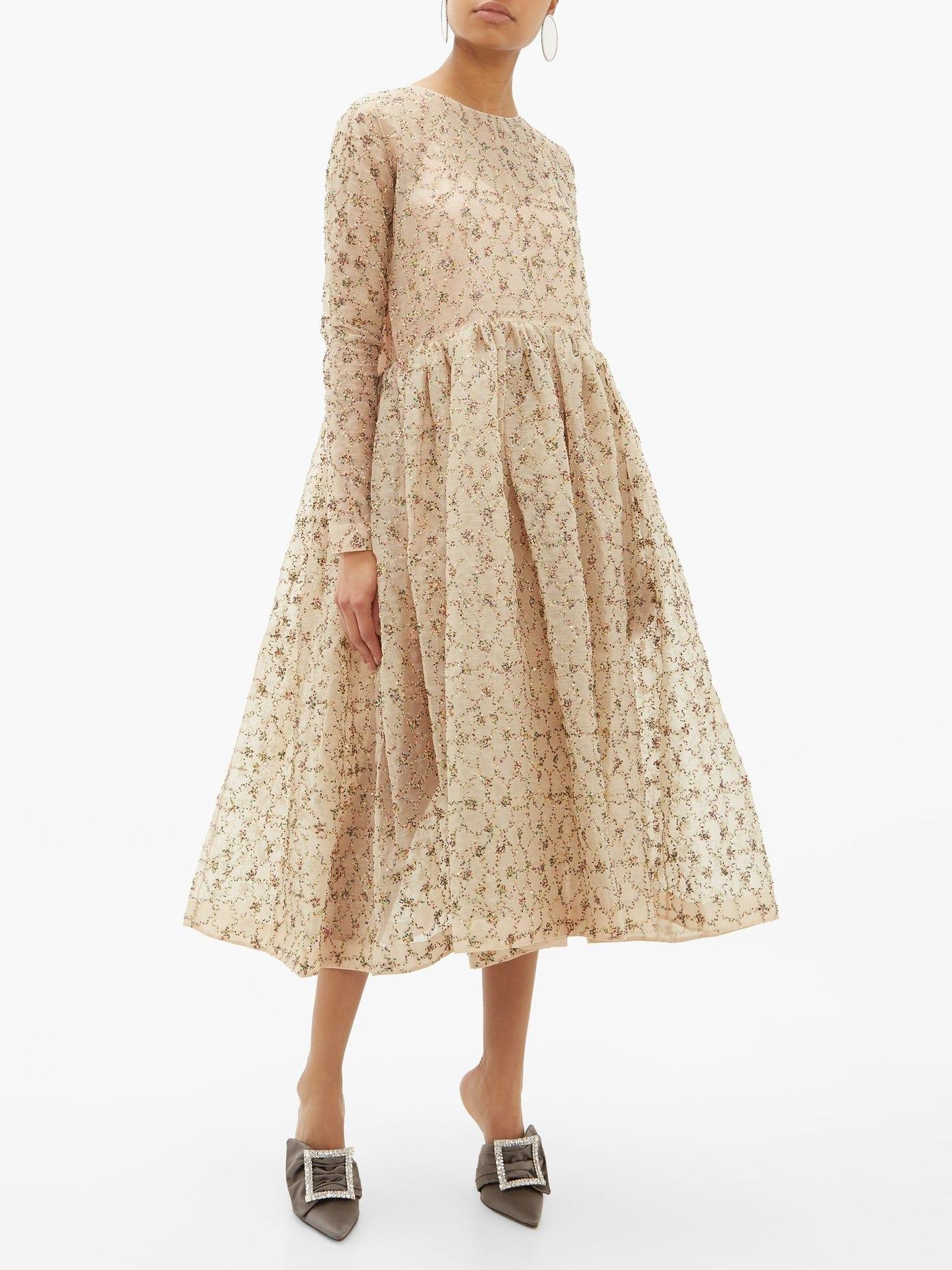 ASHISH Amira Sequinned Organza Dress