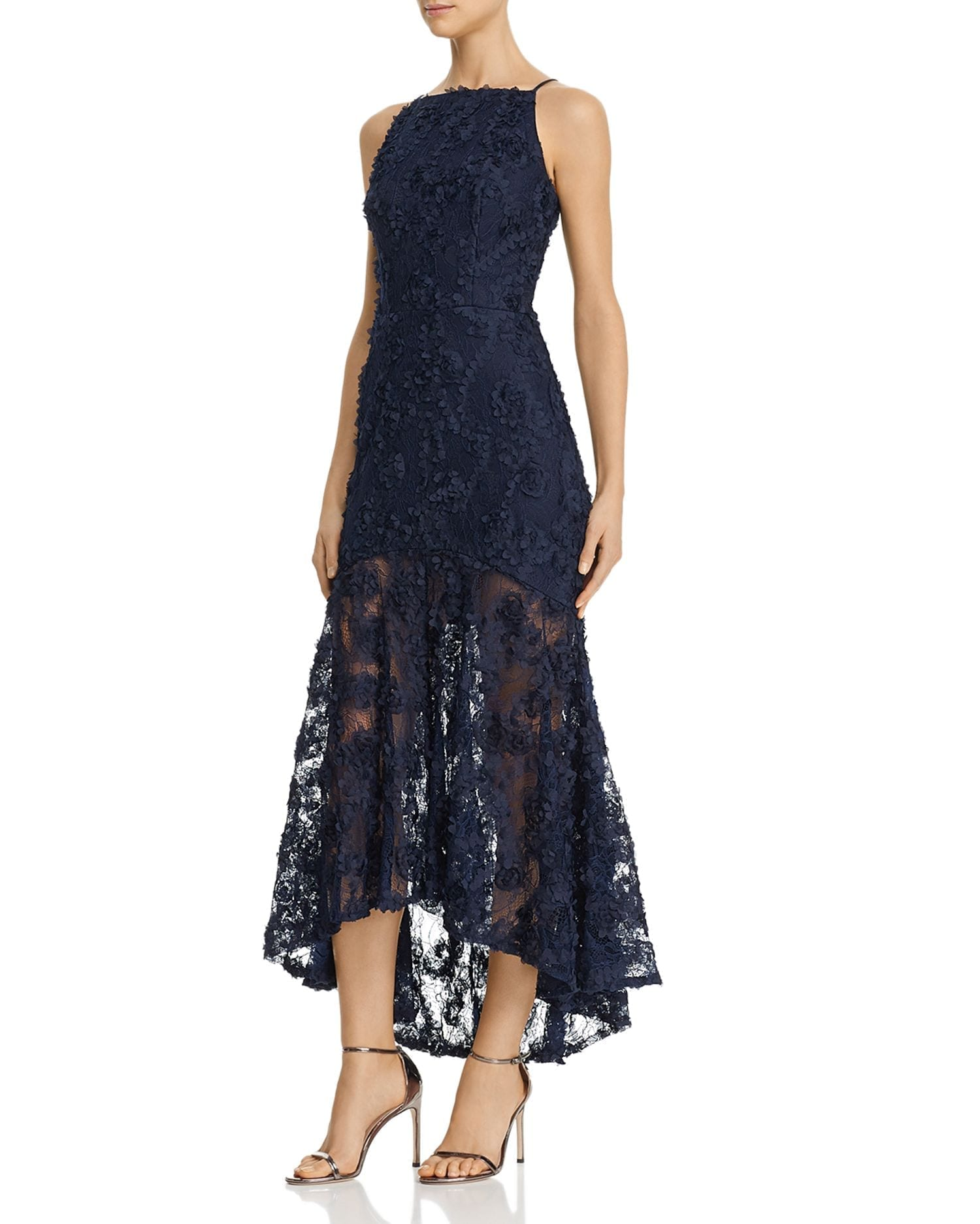 AVERY G Floral-Appliqué Maxi Dress