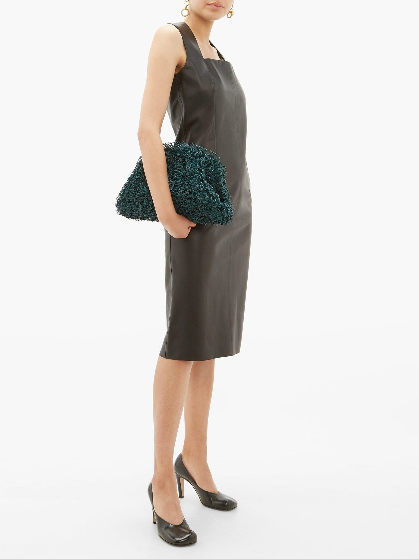 BOTTEGA VENETA Square-neckline Leather Dress