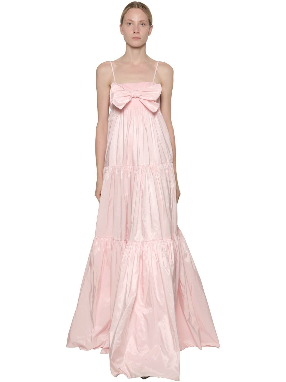 BROGNANO Ruffled Nylon Maxi Dress