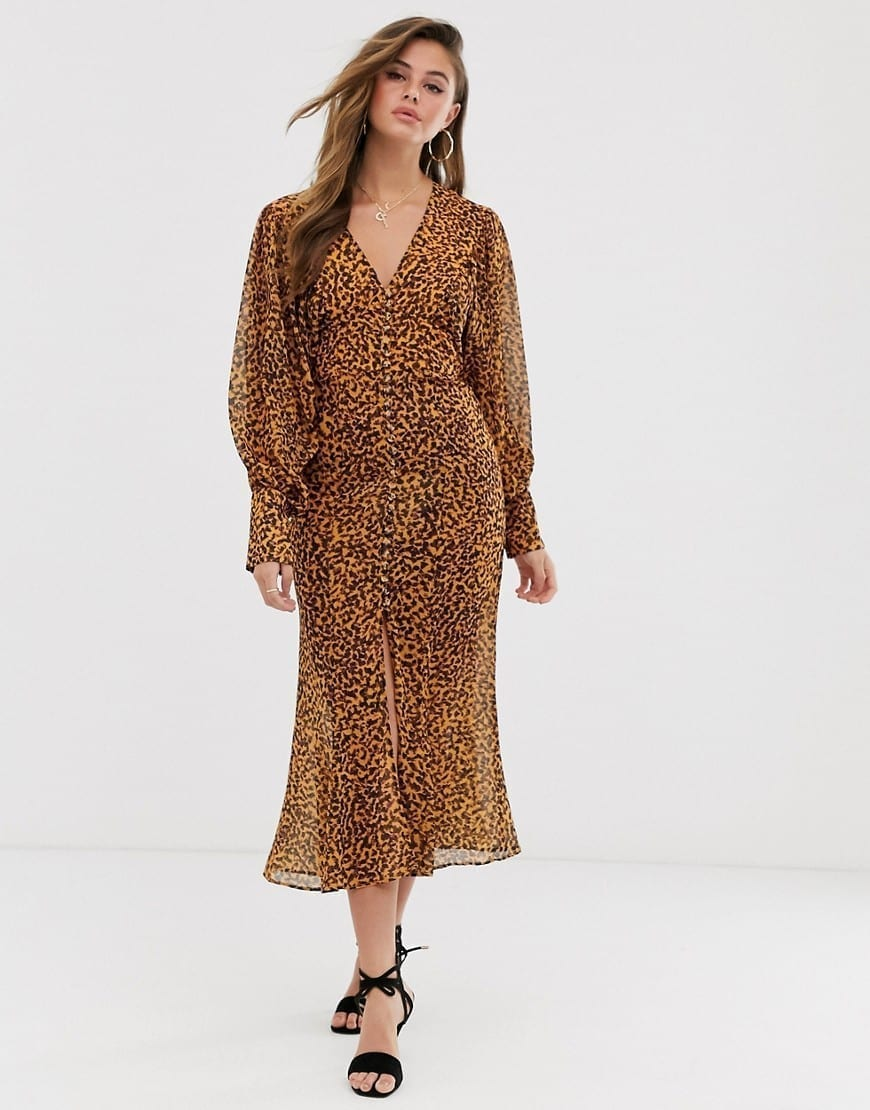 C/MEO COLLECTIVE Apparent Long Sleeve Midi Dress