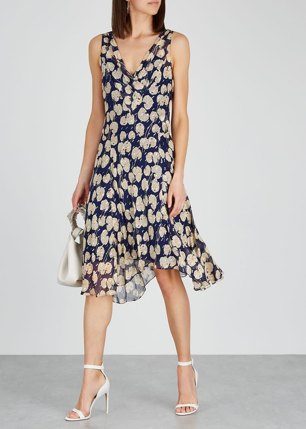 DIANE VON FURSTENBERG Dita Floral-print Silk-blend Dress