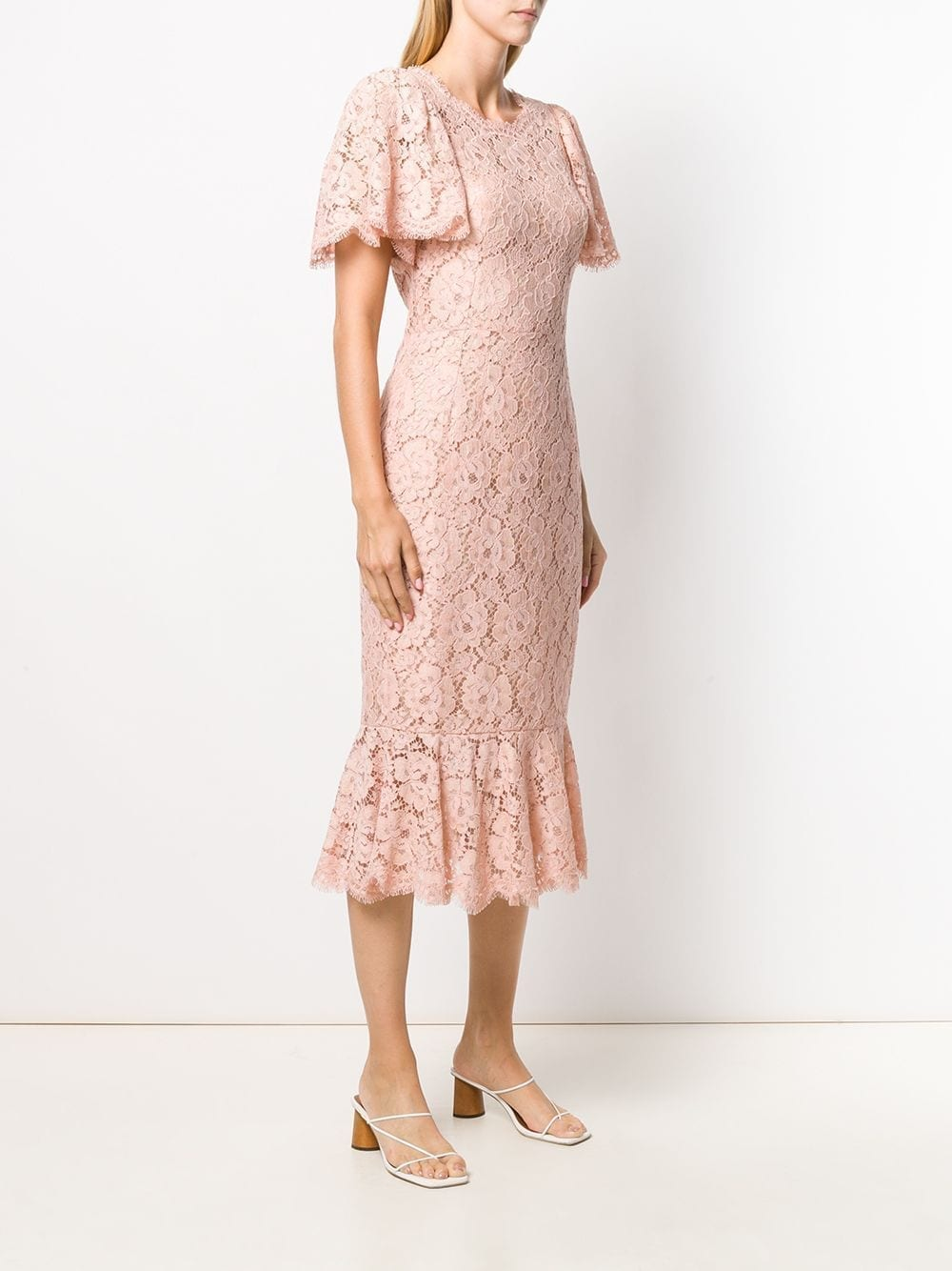 DOLCE & GABBANA Floral Lace Fitted Dress