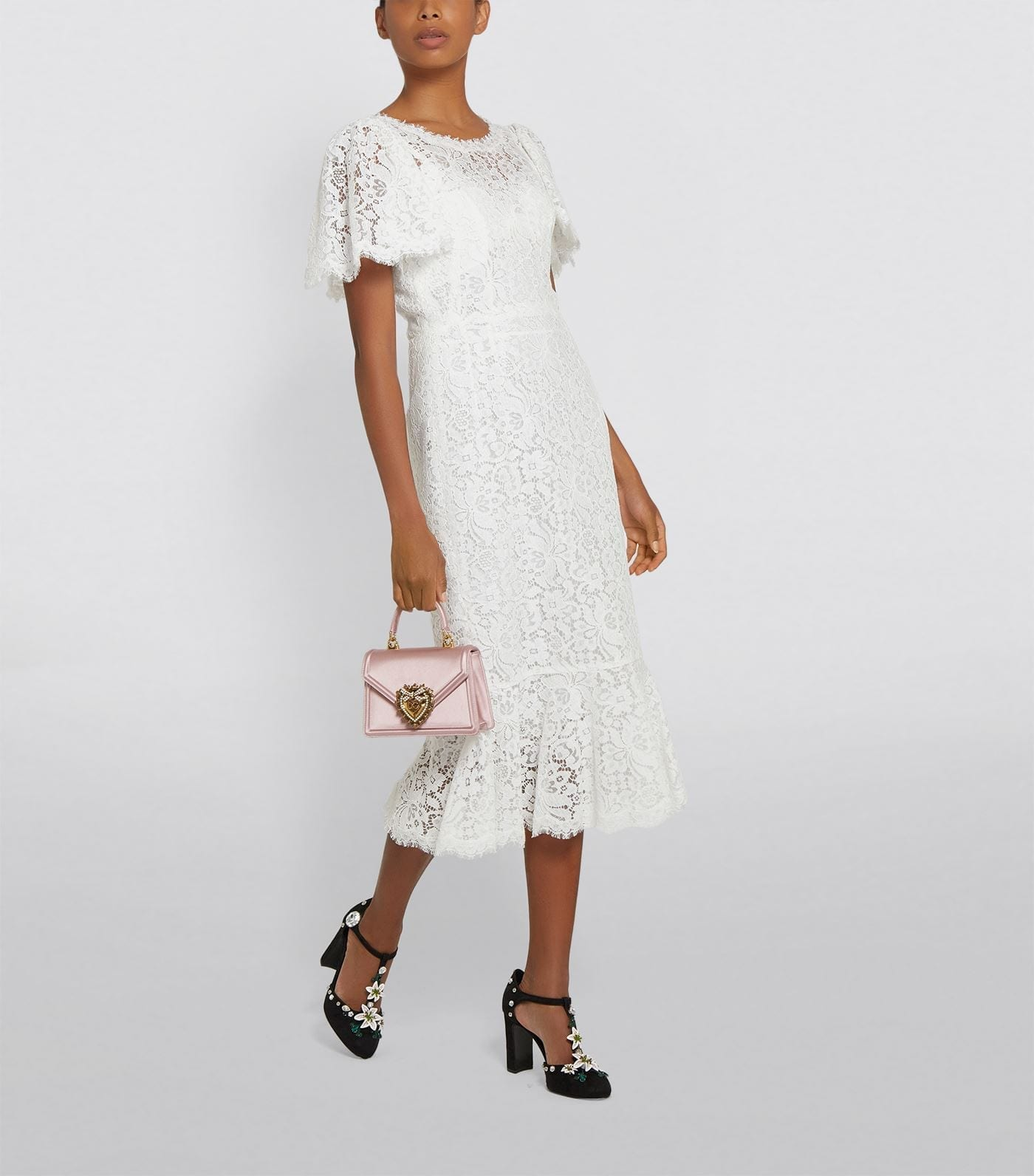 DOLCE & GABBANA Lace Fishtail Dress
