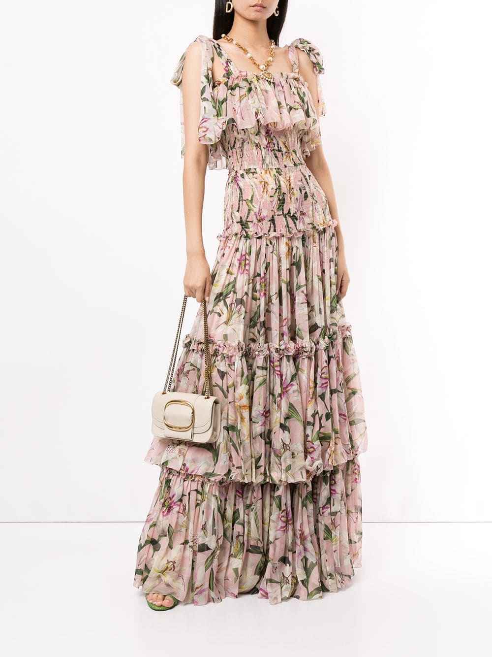 DOLCE & GABBANA Layered Lilies Dress