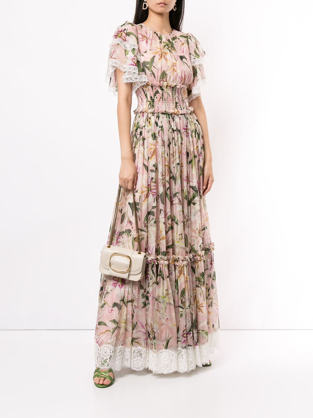 DOLCE & GABBANA Ruched Lilies Dress