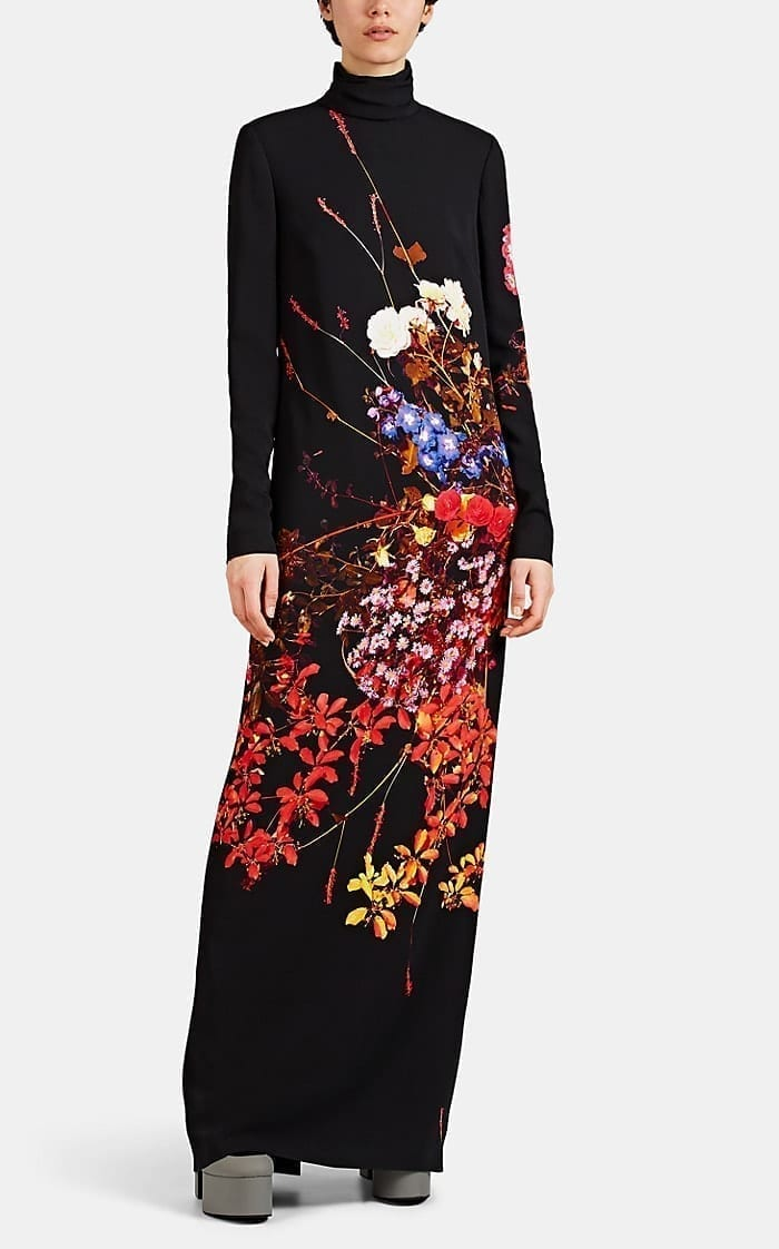 DRIES VAN NOTEN Floral Crepe Gown