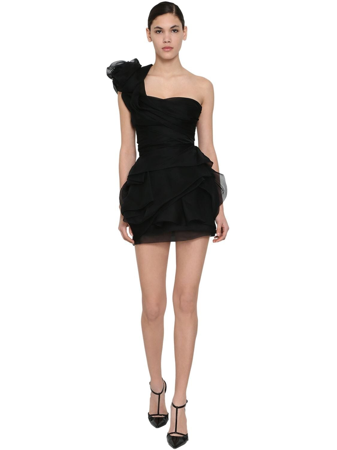 ERMANNO SCERVINO Ruffled Chiffon Mini Dress