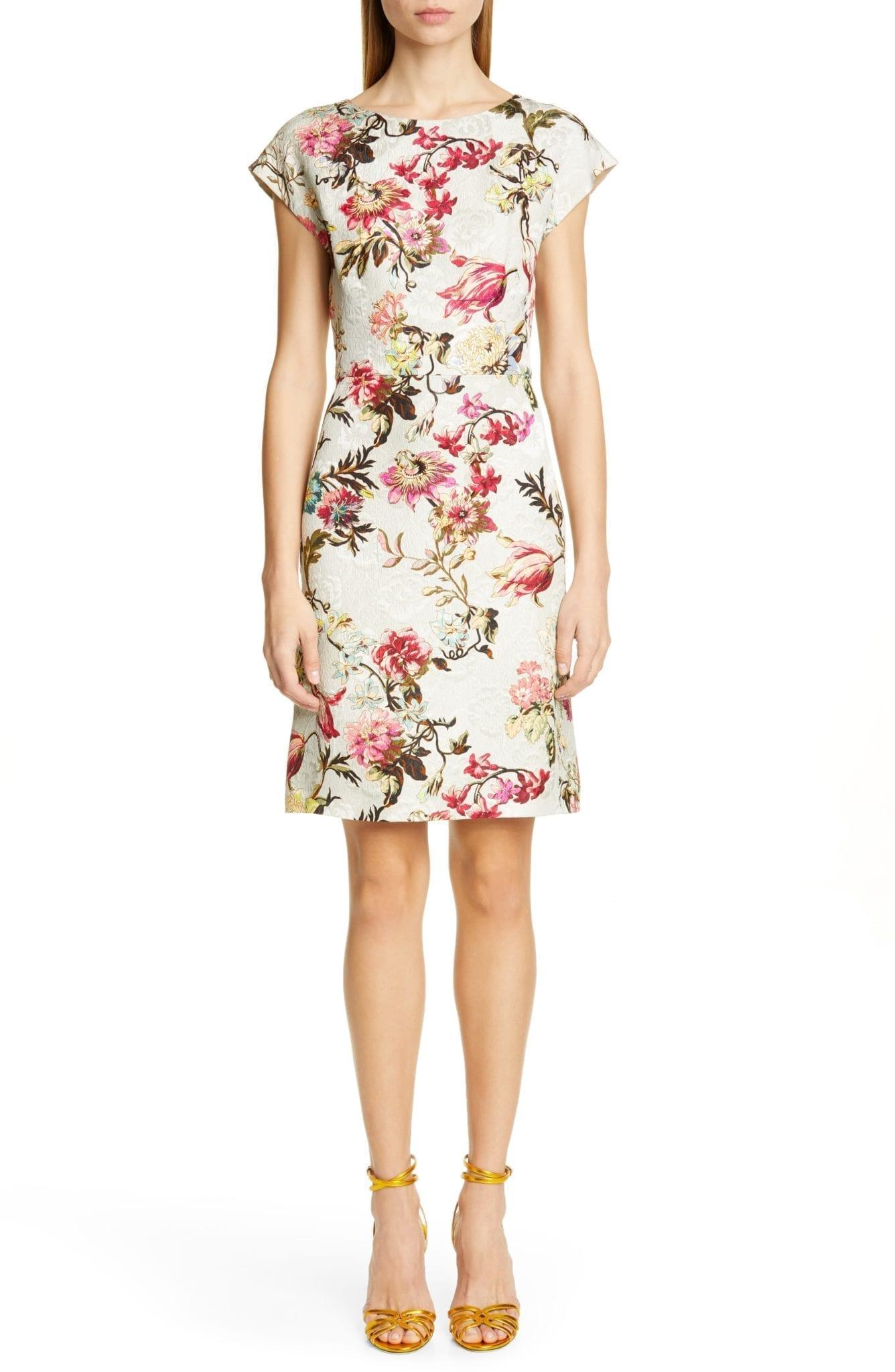 ETRO Floral Jacquard Sheath Dress